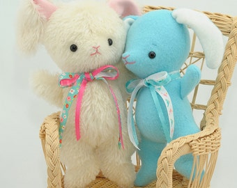 Mohair Stuffed Bunny pdf Sewing Pattern – Easy Baby Bunny – Bingle Bears by Cheryl Hutchinson – instant download