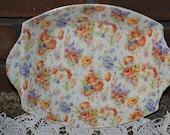 "Vintage Fenton ""Harmony"" James Kent Ltd. Rose Dish BTV01"