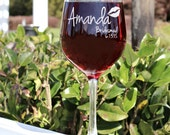 Personalized Bridesmaid Gift, Wedding Toasting Glasses, Personalized Wine Glasses, Custom Etched Wedding Party Favors, Bridesmaid Favors