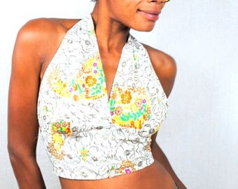 Vintage 60s Summer Country Halter Top