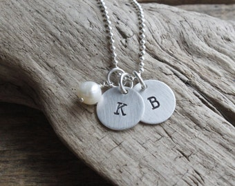 personalized jewelry, sterling initial charm necklace, gift for mom, personalized necklace, mom necklace, kids initials, best friend jewelry
