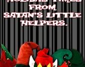 Satan's Little Helpers Holiday Card serial killers elves dahmer btk bundy