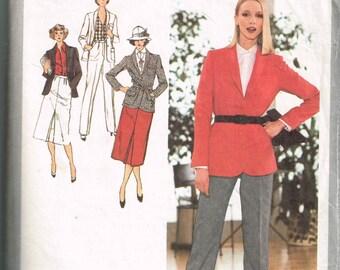 Vintage 70s Womens Suit Pattern Simpicity 9064 Women's Pants, Skirt and Blazer Jacket Pattern Size 12 Bust 35 Vintage Sewing Pattern