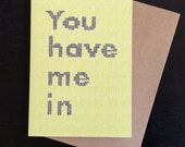 You have me in stitches - greeting card