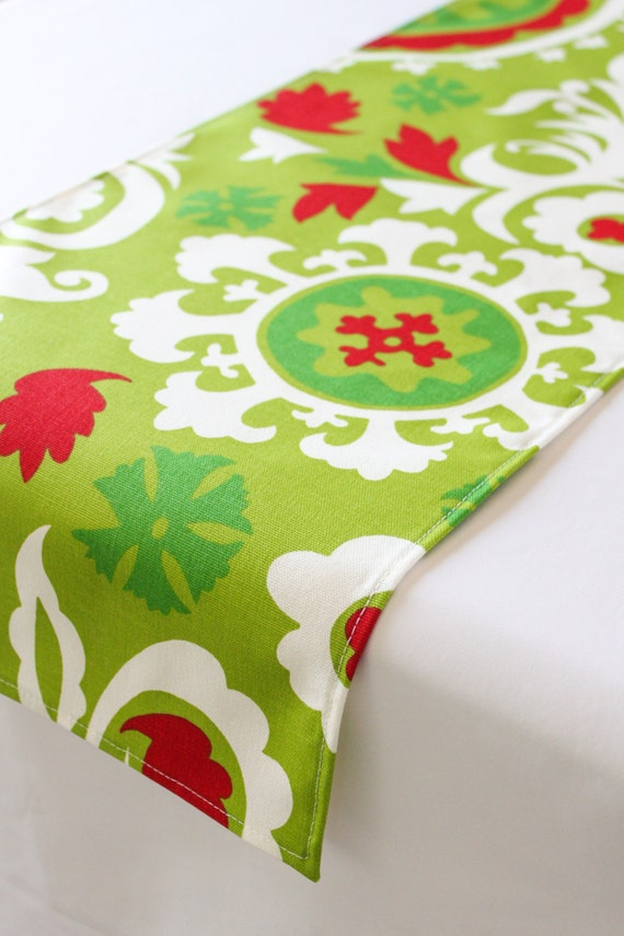 Christmas table runner, Choose length, Holiday table runner, Christmas decor, Holiday decor, Red table runner, Green table runner