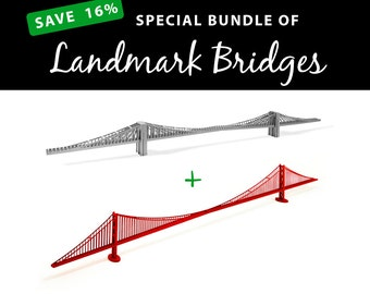 Landmark Bridges, SAVE 16% with this value bundle || Brooklyn Bridge || Golden Gate Bridge