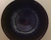 Campbell's Pottery Blue Glaze Bowl