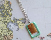 SALE! Jenae - Rectangle Enamel Necklace