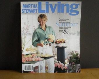Martha Stewart Living Magazine - Third Issue - Summer 1991 - 3rd MSL ISSUE - First Year Martha Mag