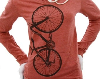 Bicycle| Lightweight Pullover hoodie| Soft organic cotton blend| Bike art by MATLEY| Spring jacket|. Gift for her| Jumper.