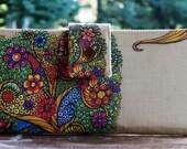 Wallet clutch womens custom fabric