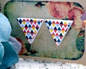 Buy 1 Get 1 Free - 20pcs (WG10) Triangle Handmade Photo Wood Cut Cabochon (Back White)
