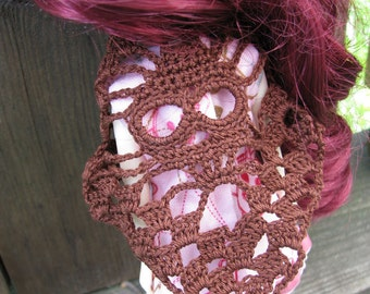 Small Brown Skull Shawl for Dolls fit Blythe, Pullip and Dal Dolls