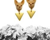 Fennec Fox Earrings, Fox Earrings, Animal Jewelry, Fox Jewelry - TRIANGLES