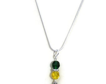 Green Bay Packers Inspired Necklace, Football Jewelry, Gifts for Women Mom Wife Sister Daughter Grandma Teacher Under 25, Stocking Stuffers