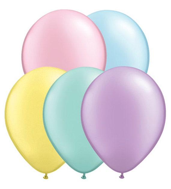 Balloons 5 pastel ballons solid pastel colored balloons light pink