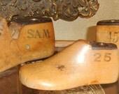 Vintage Infant & Childrens Size Wood Shoe Makers Molds lot of 3