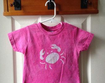 Pink Crab Shirt, Kids Crab Shirt, Girls Crab Shirt, Maryland Crab Shirt, Pink Girls Shirt, Baby Crab Shirt, Maryland Crab Gift (18 months)