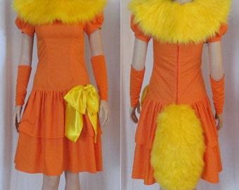 Pokemon Flareon Lolita Cosplay Costume Custom Fit Adult Women's Size 4 6 8 10 12 14