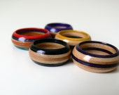 Custom Made Recycled Skateboard Wooden Ring