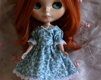 Blue Flower dress for Blythe