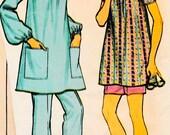 Mccalls 2924 Vintage Boho Maternity front yoke Top Robe 70s Dress Sew Pattern
