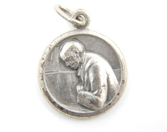 Vintage French Saint Mutien-Marie Wiaux Catholic Medal - Servant of God Religious Charm - K52