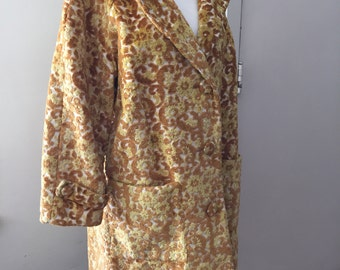 Beautiful Vintage Tapestry 1960's Coat