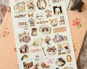 Lovely Cat Sonia Keep Calm & Love Cats scrapbooking stickers