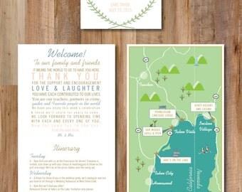 Lake Tahoe Wedding Map & Itinerary Tri-Fold