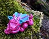 Polymer Clay Dragon 'Dreamy' - Limited Edition Handmade Collectible