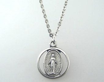 Miraculous Medal Cutout Necklace