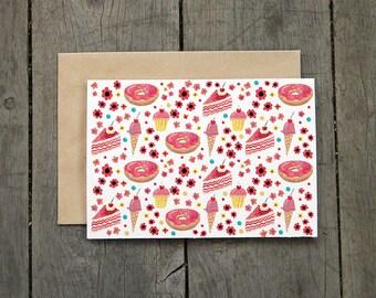 Pink Cake Card
