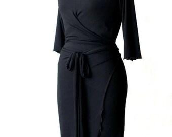 Wrap dress Custom wrap dress Cocktail dress Womens custom dress Womens clothing Day Dress Custom Plus Size Dress Women's dresses Women dress