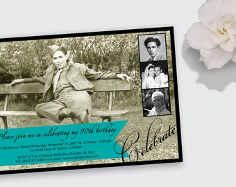 Milestone Photo Birthday Invitation - DEPOSIT