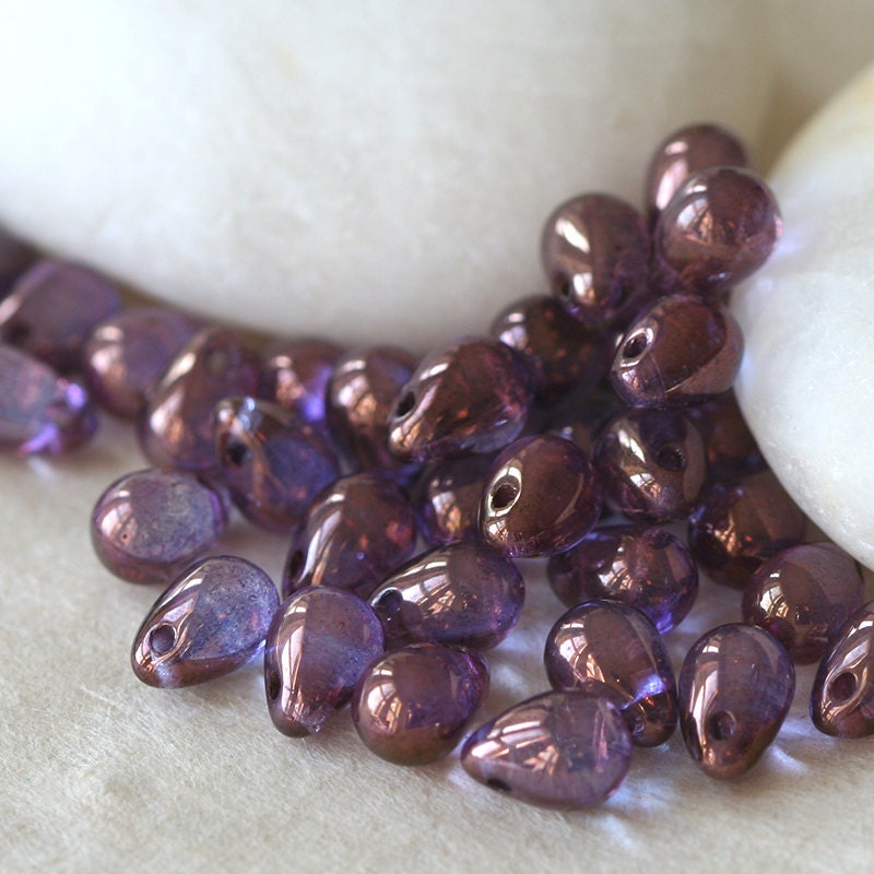 5x7mm Teardrop Beads Jewelry Making Supplies Sapphire