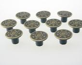 10 pcs Antique Brass Vintage Star Buttons Rivet Studs Leathercraft 17x10 mm. JN Sta Br 1710 10 RV WY