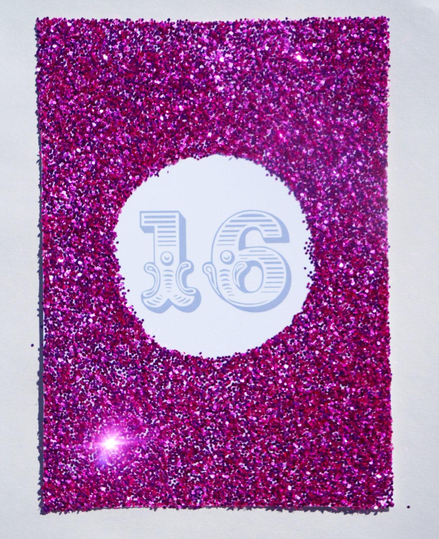 Glitter Bomb Birthday Invitations