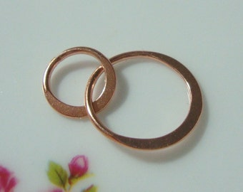 Rose Gold over Sterling Silver Handcrafted 2 circles Link, Infinity Link, Infinity Connector,13x20mm,Sale,5% off 6 pcs