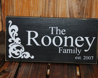 Last Name Sign ~ Family Established Custom Wood Sign ~ Wedding Gift ~ Bride Sign ~ Wedding Shower Gift ~Bridal Shower Gift ~Year Established