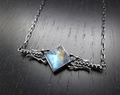 SALE - Dark Magic Necklace - Moonstone