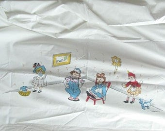 Vintage Raggedy Ann & Andy Twin Sheet