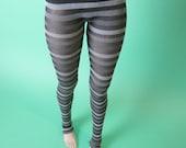 Black Gray Stripe Leggings for MSD SD+ Ball Jointed Doll