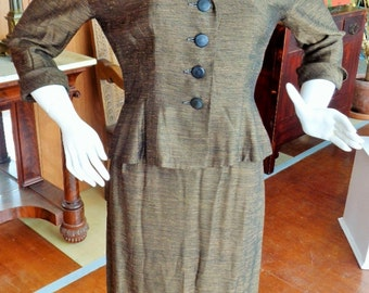 Vintage 1940's 50's Womens Suit with Jacket  by R AND K Originals