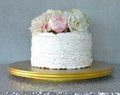 """Gold Cake 12"""" Wedding Cake Stand Cupcake Stand Rustic Gold Cake Topper Wedding Decor E. Isabella Designs Featured In Martha Stewart Weddings"""