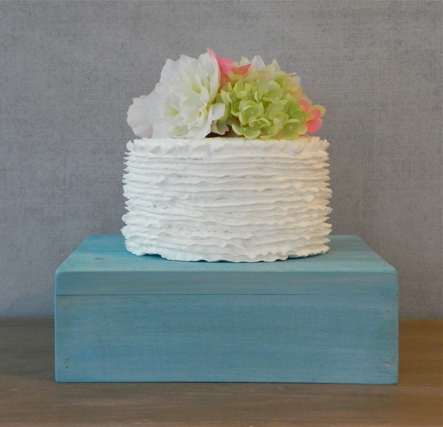 12 Wedding Cake Stand Rustic Turquoise Aqua by