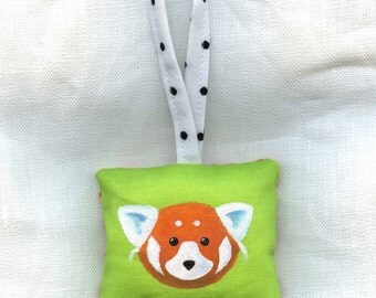 Walter the Red Panda Hand Painted Ornament