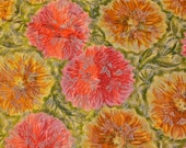 FABRIC - Japanese Silk Floral Brocade 2 Yards