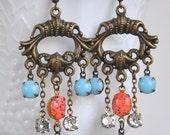 Vintage Boho Rhinestone Earrings