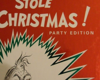 Vintage Book How the Grinch Stole Christmas 50th  Party Edition